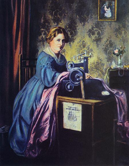 The original Singer sewing machine, 1851.