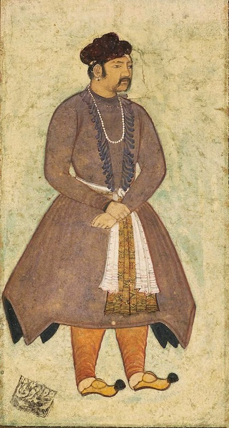 Late 16th century portrait of Akbar by Manohar