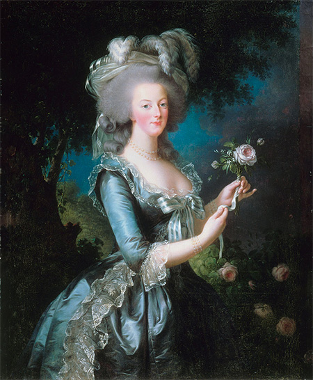 Marie Antoinette with the Rose. Portrait by Louise Élisabeth Vigée Le Brun, 1783.
