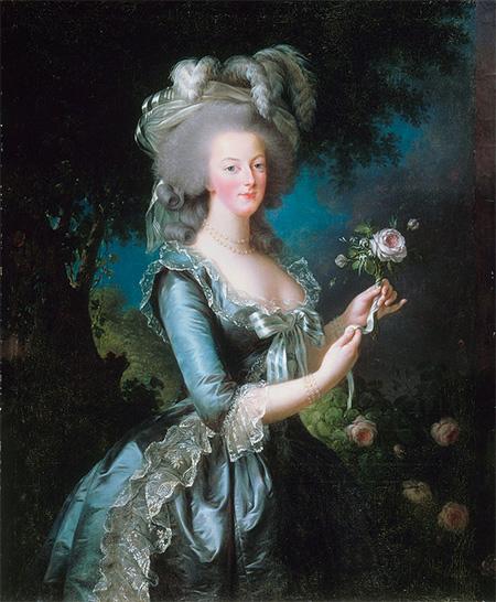 Marie Antoinette with the Rose. Portrait by Louise Élisabeth Vigée Le Brun, 1783.