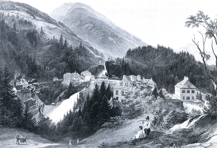 The spa town of Badgastein, benefitting from the high altitude free of miasmas. Weindenfeld Archives.