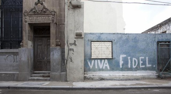 A mural for Fidel in Old Havana, Cuba (Library of Congress)
