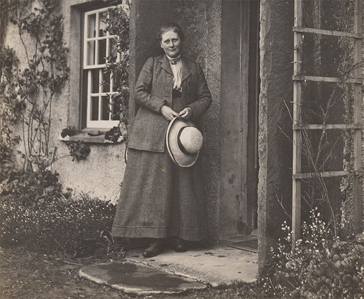 Cottage industry: Beatrix Potter at home in the Lake District, 1913.