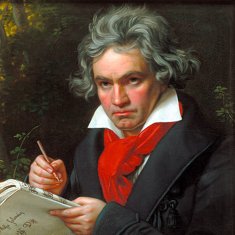 Portrait of Beethoven by Joseph Karl Stieler, 1820