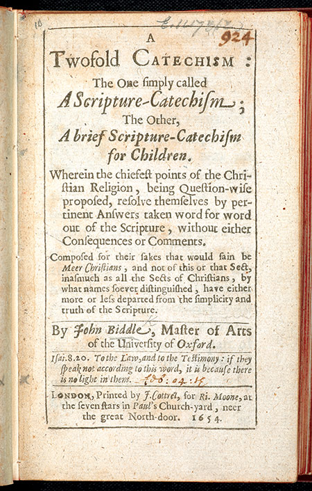 a twofold catechism biddle pdf