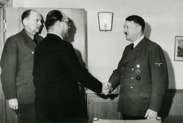 Bose meeting Adolf Hitler
