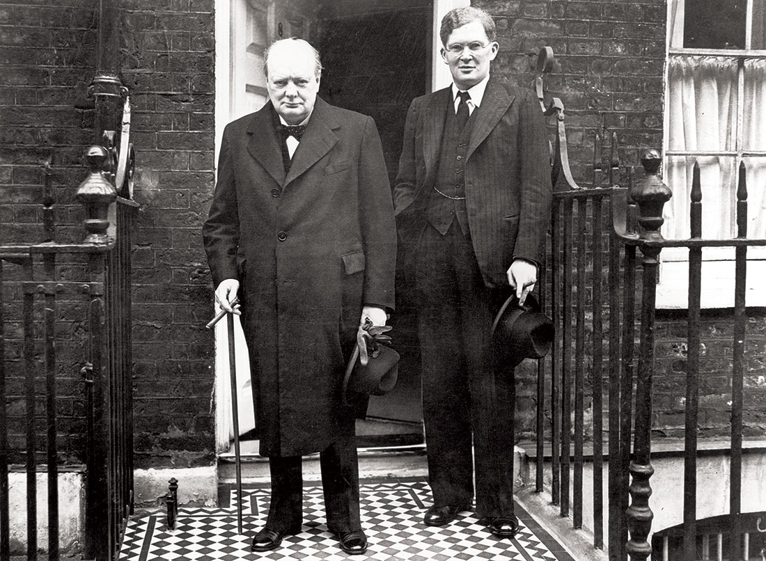 Brendan Bracken alongside Winston Churchill, April 1939.