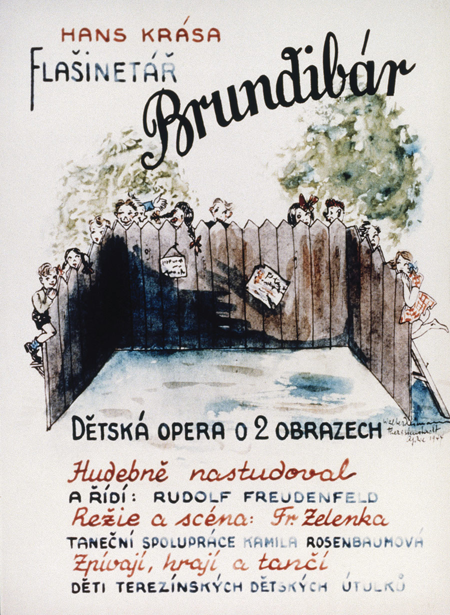 Brief happiness: programme for the opera Brundibár, performed at Terezin, 1943.