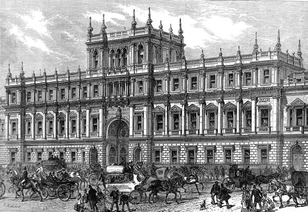 Burlington House, where the Society was based between 1873 and 1967.