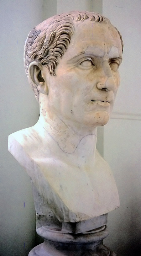 Bust of Gaius Julius Caesar in the National Archaeological Museum of Naples. Taken by Andreas Wahra in March 1997