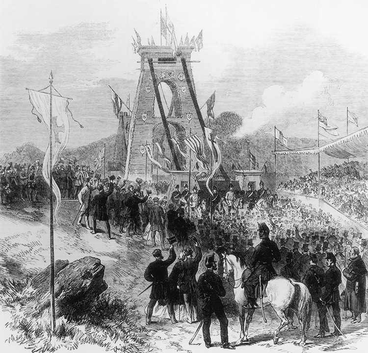 The opening of the bridge, from Illustrated London News, December 17th, 1864.
