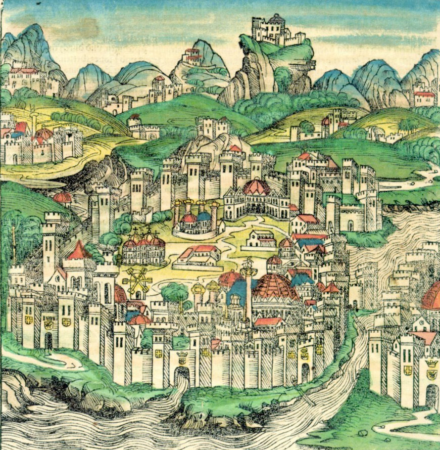 Page depicting Constantinople in the Nuremberg Chronicle published in 1493 - See more at: http://www.historytoday.com/lansing-collins/yorkshireman-istanbul-1593#sthash.6ab08lLA.dpuf