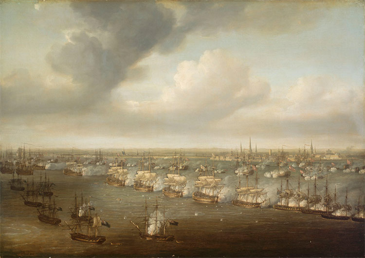 Nicholas Pocock - The Battle of Copenhagen, 2 April 1801