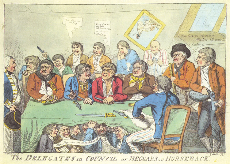 The Delegates in Council, or beggars on horseback, a contemporaneous caricature.