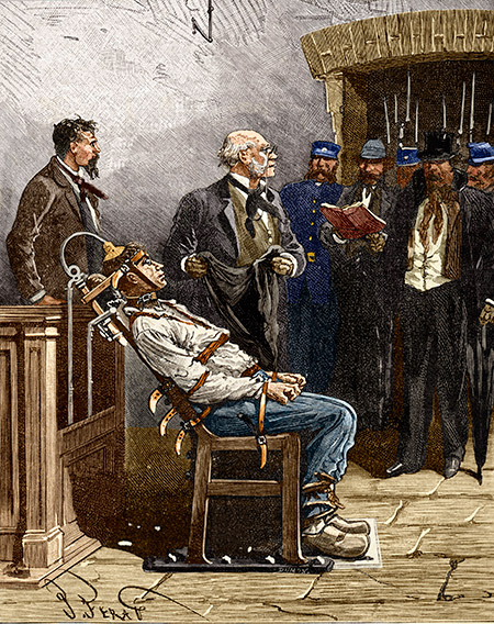 A contemporary portrayal of Kemmler's execution.