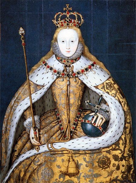 Elizabeth I in her coronation robes
