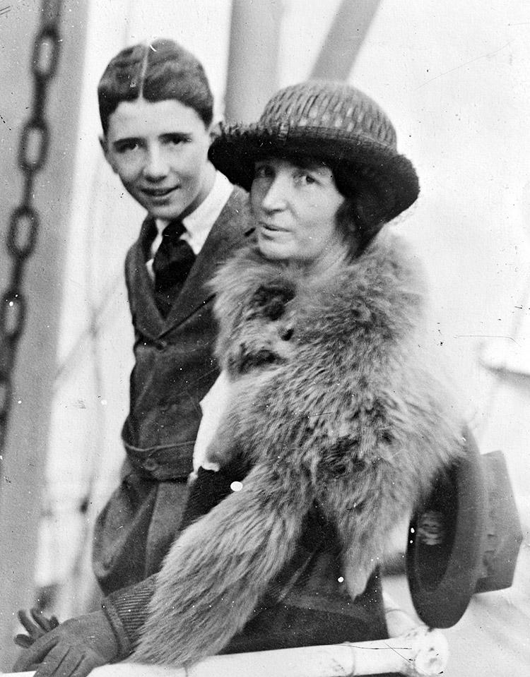 Woman Rebel: Sanger and her eldest son, Stuart, in Japan, 1922.