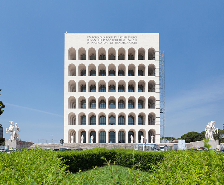 The Palazzo della Civia Italiana, part of the EUR complex in Rome and now home to the fashion house Fendi