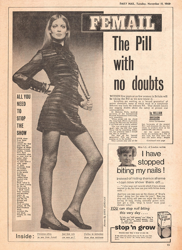 Women's issues: the revamped 'Femail' section, 1969