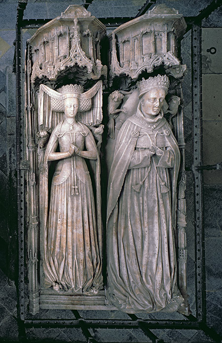 Mighty subject: effigies of Thomas Fitzalan and his wife Beatrice in the family chapel at Arundel Castle.