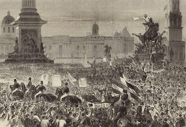 Garibaldi in Trafalgar Square