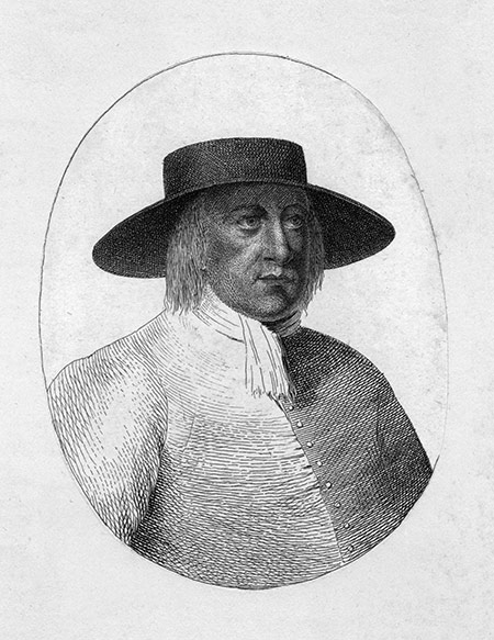 George Fox in a contemporary engraving