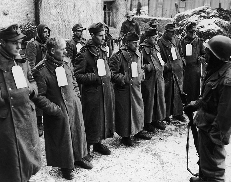 Captured German soldiers at the end of the Second World War