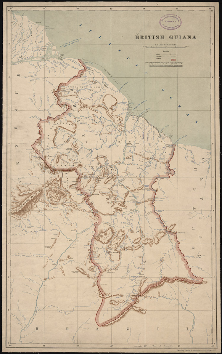 Map of British Guiana, 1908