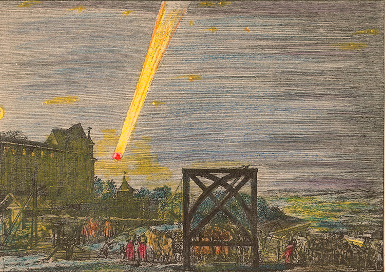 Down to Earth: Comet over Nuremberg, 1680, by Johann Jakob von Sandrart