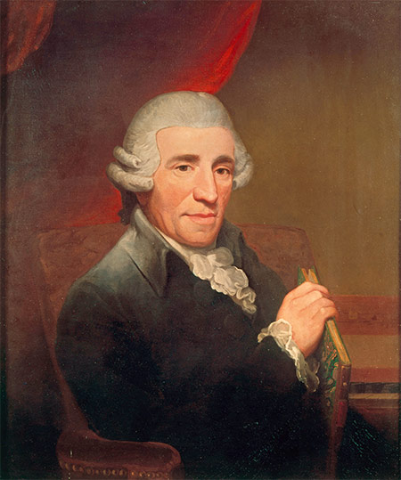 'Papa' Haydn portrayed by Thomas Hardy, 1792.