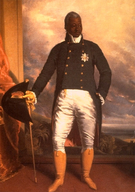 Portrait of Henri Christophe, King of Haiti. By Richard Evans, 1816