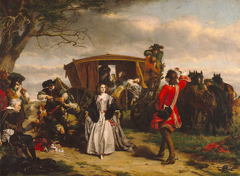 David dances on the moonlit heath, William Powell Frith, late 19th century.