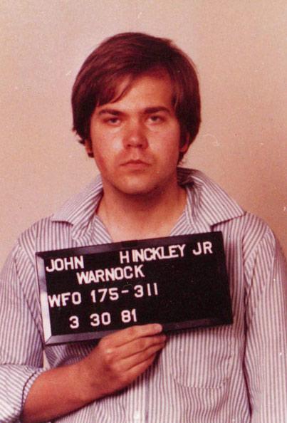 FBI mugshot of John Hinkcley, Jr. after his attempted assassination of Ronald Reagan in 1981.