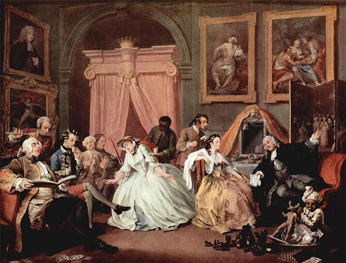 Hogarth's 'Marriage à-la-mode', number 4: The Toilette.