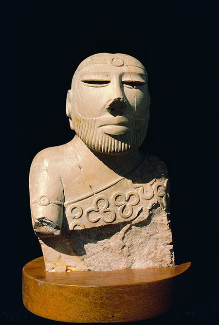 Bust of 'Priest-King' from Monenjo-daro