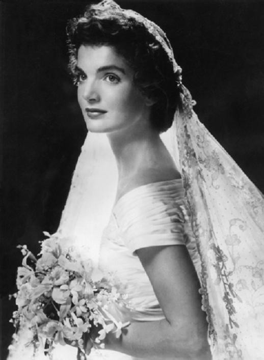 Jacqueline Bouvier on her wedding day