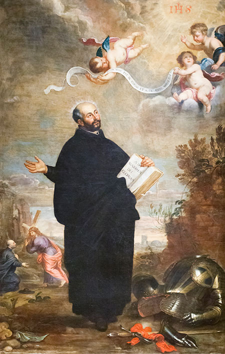 God's general: St Ignatius of Loyola, by Daniel Seghers and Jan Wildens, 17th century.