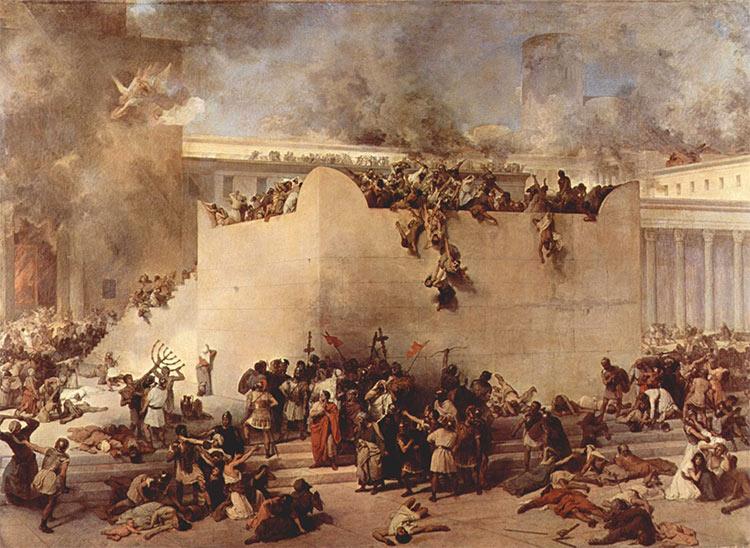 Destruction of the Temple of Jerusalem, Francesco Hayez, oil on canvas, 1867