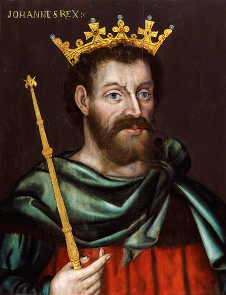 Portrait of King John by an unknown artist. c.1620.