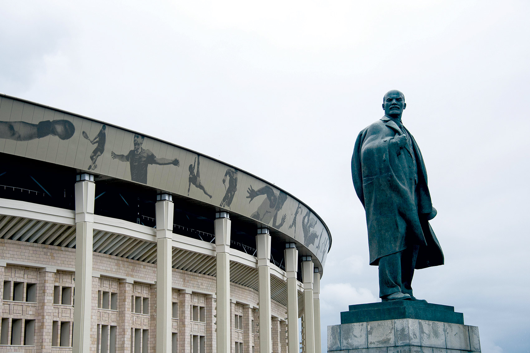 Statue of Lenin outside the Luzhniki Olympic Stadium, Moscow.