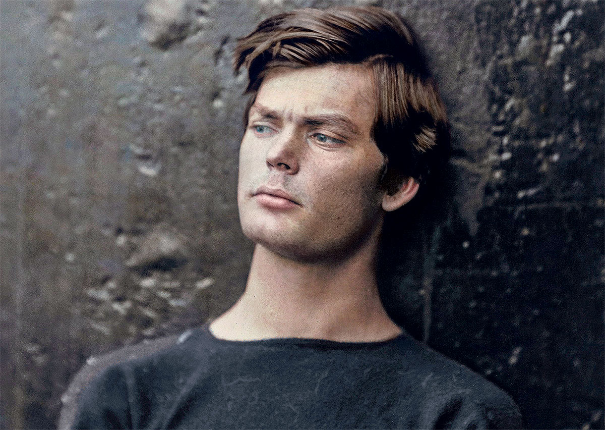 Model villain: Lewis Powell, 1865, colourised by Marina Amaral.