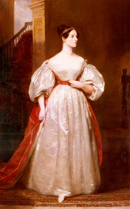 Computer love: Ada Lovelace, by Margaret Sarah Carpenter, 1835.