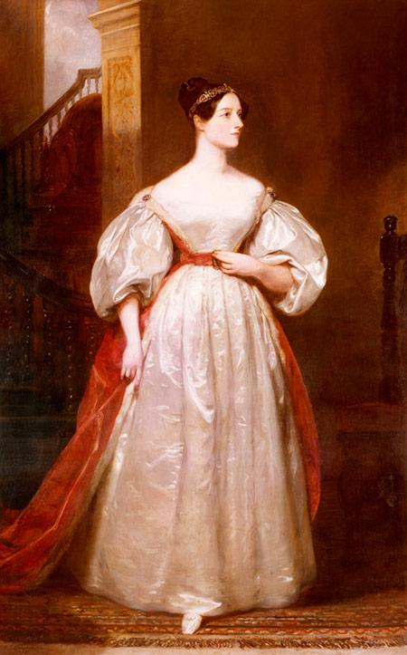 Computer love: Ada Lovelace, by Margaret Sarah Carpenter, 1835.