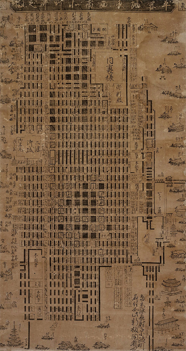 The Map Kyoto C 1626 History Today