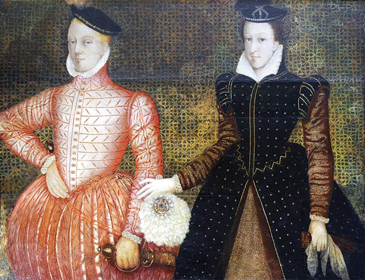 King and Queen of Scots: Darnley and Mary, Scottish school, c.1565.