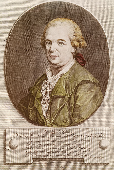 Franz Anton Mesmer in a contemporary engraving.