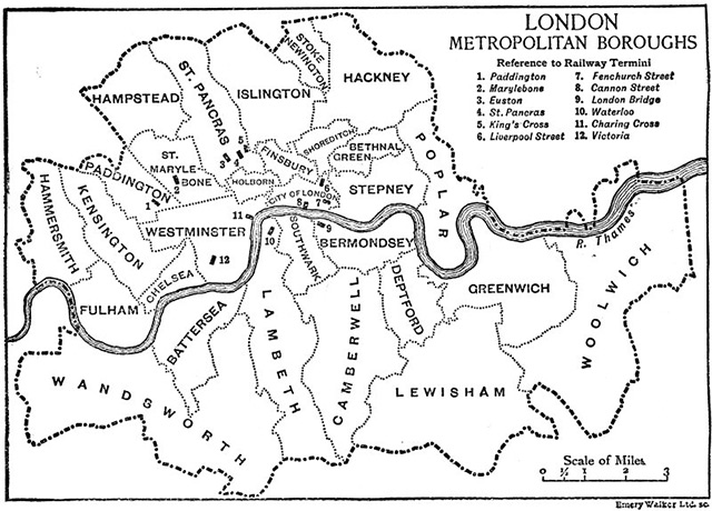Map Of London Showing Boroughs.London S Boroughs History Today