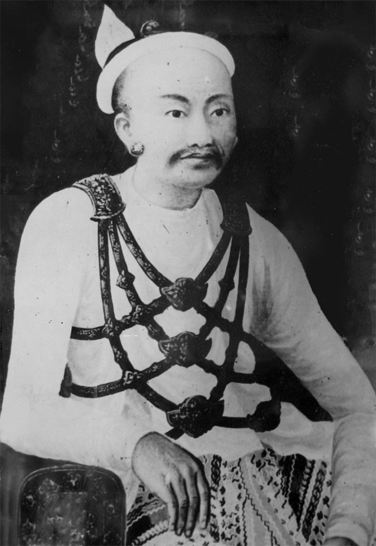 Portrait of King Mindon on display at Mandalay Palace