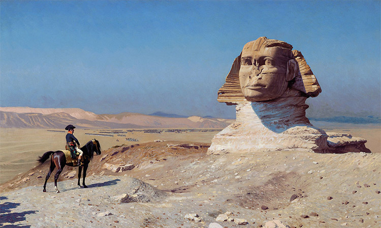 Napoleon Bonaparte Before the Sphinx, (ca. 1868) by Jean-Léon Gérôme,