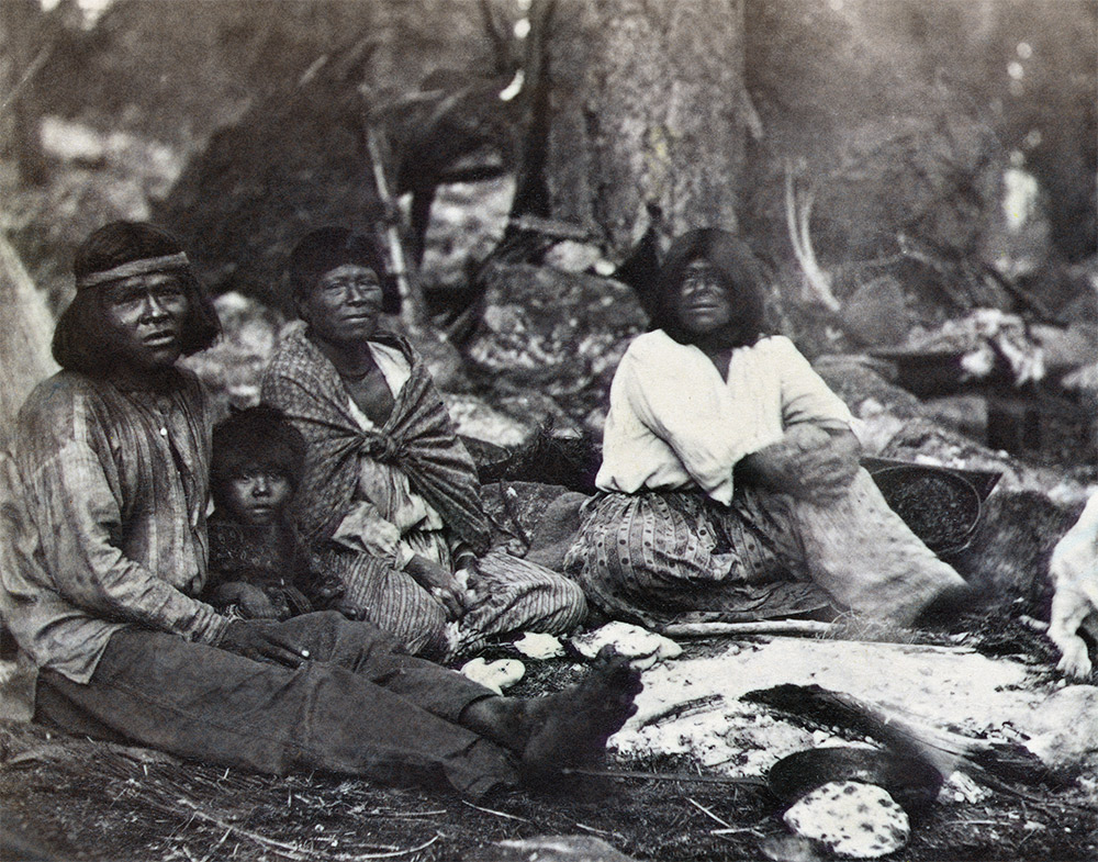 Paradise lost: Native Americans in the Yosemite Valley, California, c.1870.